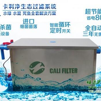 贵州小区鱼池卡利净水处理设备景观水净化观赏鱼池过滤建造