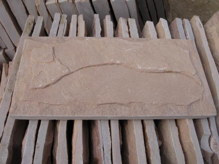 供应红色外墙砖红色蘑菇石红色文化石粉砂岩文化石墙面砖