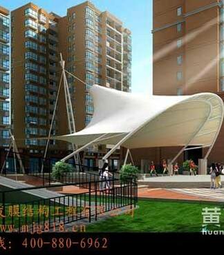 【沧州人民广场景观膜结构、商场顶棚膜结构、轿车停车场停车棚膜结