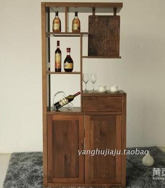 黑胡桃实木玄关隔断厅柜进门厅柜客厅鞋柜餐厅红酒柜原木质多用途