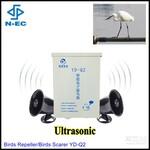 新疆葡萄园智能超声波驱鸟器智能太阳能供电驱鸟器图片