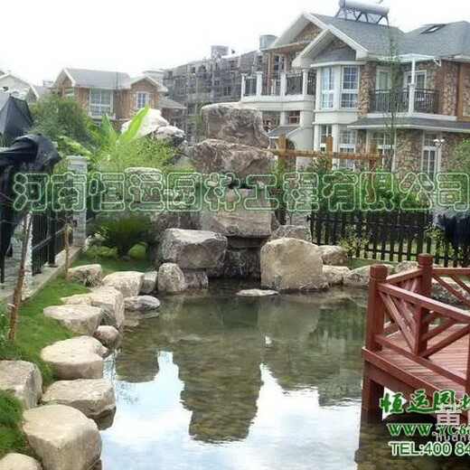 扬州市假山鱼池过滤器自动排污金鱼池循环水设计图