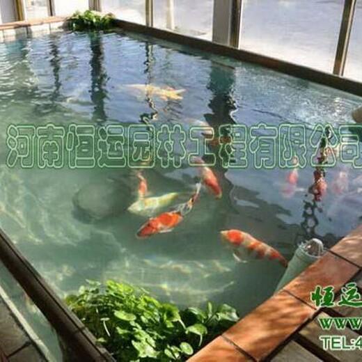 大港区室内鱼池过滤器低价促销喷泉鱼池设计