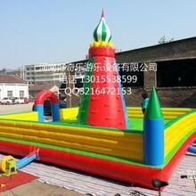 2016河南好奇乐厂家现货热卖充气攀岩墙儿童PVC气模城堡玩具可租赁