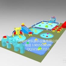 2016河南好奇乐厂家现货供应大型水上乐园设备支架水池充气游泳池大闯关可租赁