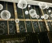 设计师led火花球吊灯客厅灯卧室餐厅酒店吧台工程雪花球不锈钢灯图片